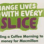 Macmillan Coffee Morning – Saturday 1st October